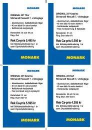Rek Ca-pris 5.595 kr - Cycleurope