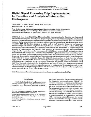 Digital Signal Processing Chip Implementation for Detection and ...