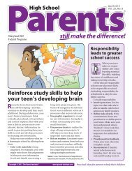 Parents Still make the difference!® (High School ... - Sharyland ISD