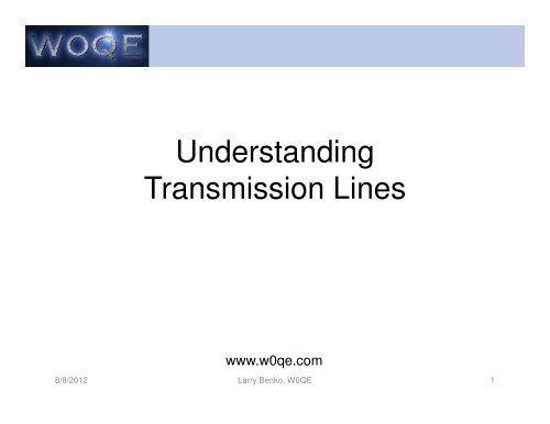 SWR Example Load Impedance(s) - W0qe com