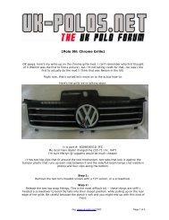 [Polo 9N: Chrome Grille] - VW PolO Club