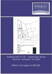 Building Plot At 153 Galmington Road Taunton Somerset TA1 ... - ISSL