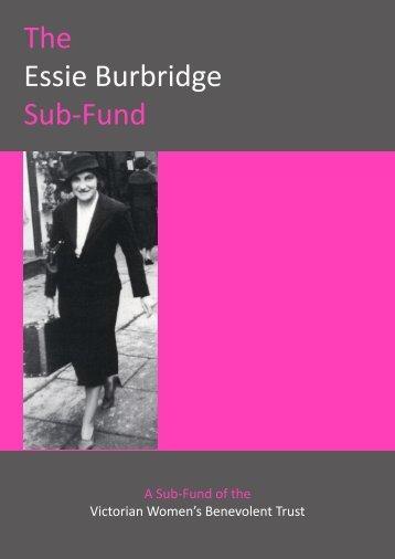The Essie Burbridge Sub-Fund - The Victorian Women's Trust