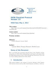 IVOA DataLink Protocol Version 1.0