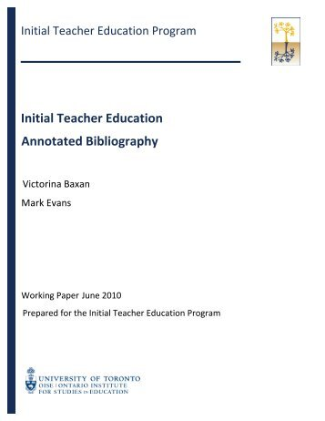 writing an annotated bibliography university of toronto