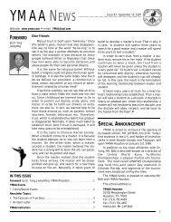 YMAA News #43, September 1997 (118Kb)