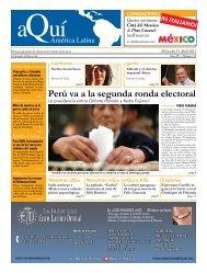 Perú va a la segunda ronda electoral - Aqui-online.com