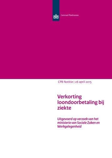 cpb-notitie-26april2015-verkorting-loondoorbetaling-bij-ziekte