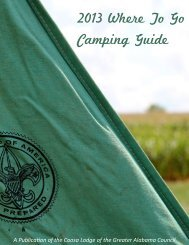 Greater Alabama Council Where To Go Camping Guide