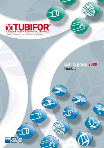 Listino prezzi 2009 Price List - Tubifor