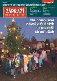 Na obnovené návsi v Sulicích se rozzářil stromeček - Zápraží