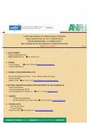 Liste des prestataires ASG MAJ Novembre 2011 - Anfh