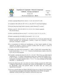Estruturas de Dados II Turma: C01 Professor MSc. Pedro Valle 1