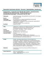 Folgeprüfung - Fachkraft nach DIN EN ISO 22475-1