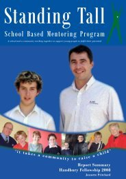 Standing Tall: A School Based Mentoring Program - Victorian Youth ...