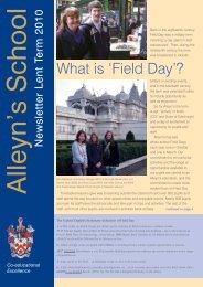 What is 'Field Day'? - Alleyn's School