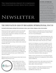 TIGOC Newsletter October 2012 - The Innovation Group