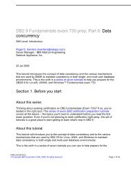 DB2 9 Fundamentals exam 730 prep, Part 6: Data concurrency - IBM