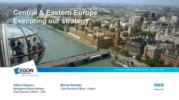 Aegon CEE: Executing our strategy