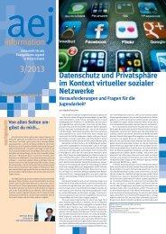 information 3/2013 - Arbeitsgemeinschaft der Evangelischen Jugend