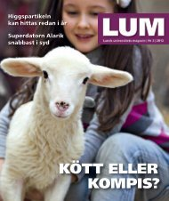 LUM nr 3, 2012 - Humanekologi Lunds universitet