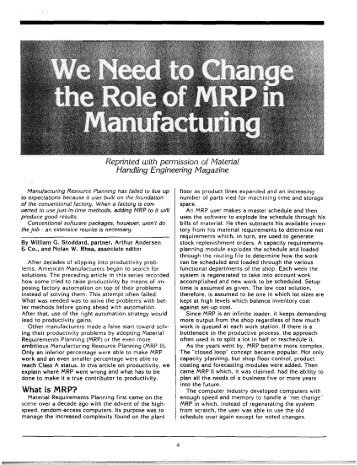 What is MRP? - Association for Manufacturing Excellence