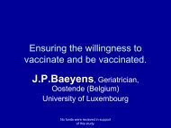 Ensuring the willingness to vaccinate and being vaccinated.