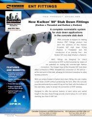 Kwikon 90 Ddegree Stubdown [PDF] - Ipex USA LLC