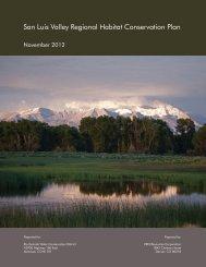 San Luis Valley Regional Habitat Conservation Plan - Slvhcp.com