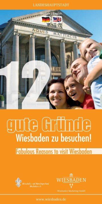 12 gute Gründe, Wiesbaden zu besuchen (PDF | 1,83 MB)