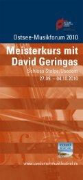Page 1 Page 2 Ostsee-Musikforum 2010 lm Rahmen des Usedomer ...