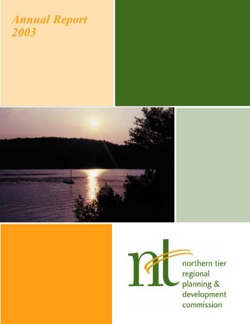 Annual Report 2003 - Northern Tier Regional Planning and ...