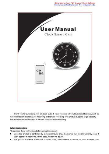 tardis alarm clock manual pdf