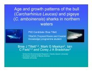 Age and growth patterns of the bull - TRaCK: Tropical Rivers and ...