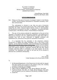 No.A-35011/1/2009-Estt. Government of India Ministry of Micro ...
