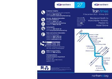 Northern Timetable 27 for web.indd - Northern Rail