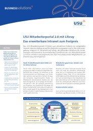 USU Mitarbeiterportal 2.0 mit Liferay Das erweiterbare ... - Usu AG