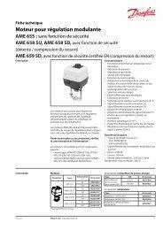 Moteur pour régulation modulante AME 655 - Danfoss Chauffage