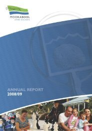 Annual Report 2008-2009 - Moorabool Shire Council