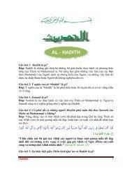 AL - HADITH - Chân Lý Islam