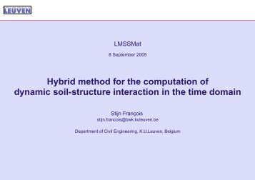 Hybrid method for the computation of dynamic soil-structure ...