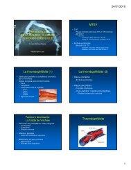 la prévention de la maladie veineuse thrombo-embolique
