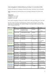 Undervisningsplan for Medicinsk Biokemi og Fysiologi 1 i 2. kvartal ...