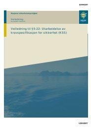 Veiledning til §5-22: Utarbeidelse av kravspesifikasjon for ... - NSM