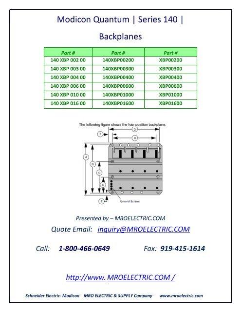 Modicon 140XBP00600 PLC 140 XBP 006 00 Quantum Backplane