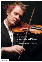 Abonnement 2011/2012 3. Konzert Von Liebe und Trauer