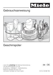 Gebrauchsanweisung Geschirrspüler - Miele