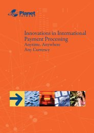 Innovations in International Payment Processing - Planet Payment