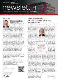 Newsletter November 2012 - Vogt-Schild Druck AG