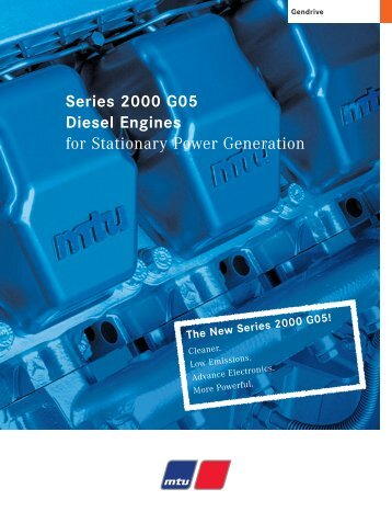 Series 2000 G05 Diesel Engines for Stationary Power Generation